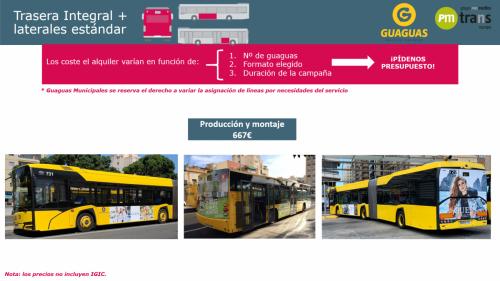 Bus Trasera Integral + laterales Estándar