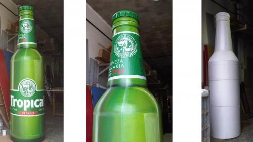 Botella en fibra-Tropical